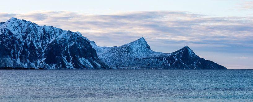 Noorwegen winter van Wim van D