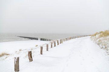 Sneeuw-wandeling van Henk Verstraaten