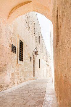 Schöne alte Straße in Mdina, Malta von Evelien Oerlemans