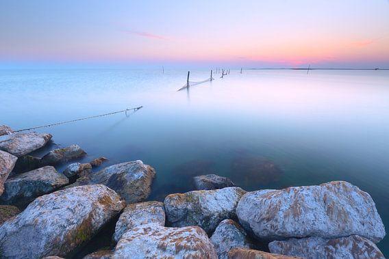 Visfuik in zacht licht van Mark Scheper