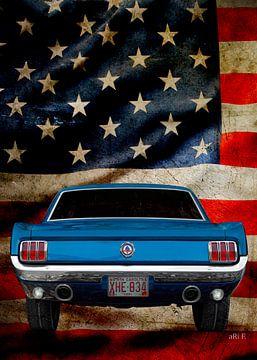 Ford Mustang met sterren & strepen van aRi F. Huber