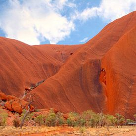 Structuren Uluru Ayers Rock van Inge Hogenbijl