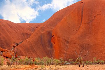 Lijnenspel in Uluru Ayers Rock van