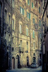 In den Straßen von Siena