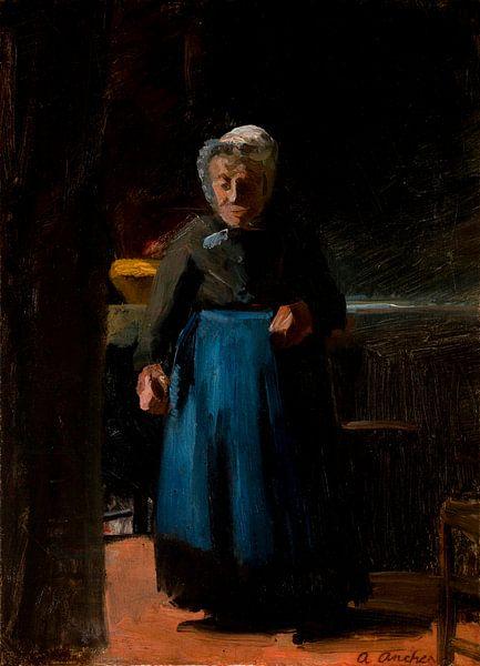 Alte Frau in einer Küche, Anna Ancher von Meesterlijcke Meesters