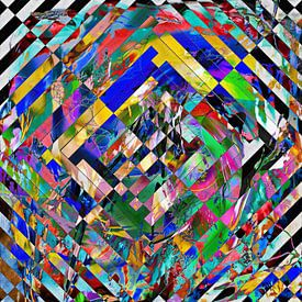 Abstract lijnenspel van Maurice Dawson