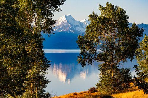 Mount Cook spiegelend in Lake Pukaki