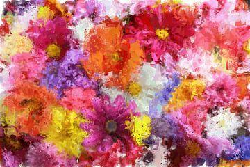 Ein Bett voller Blumen von Theodor Decker