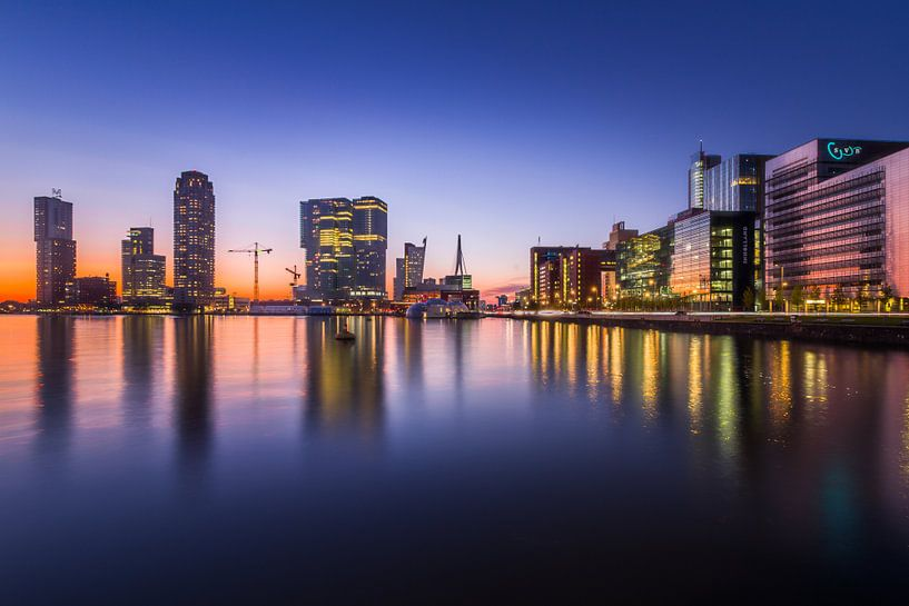 Rotterdam de Kop van Zuid sur Evert Buitendijk