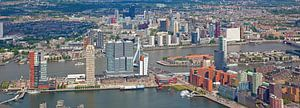 Luchtfoto panorama Skyline Rotterdam