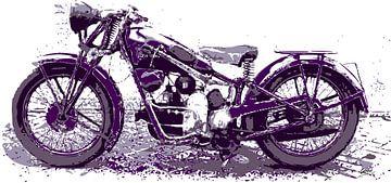 Vintage Motorfiets van ! Grobie