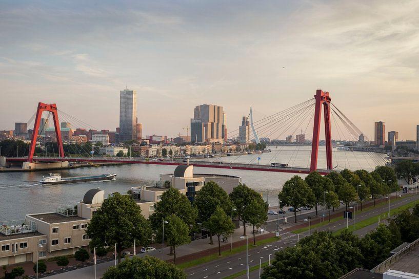 Sky line Rotterdam van Rick Keus