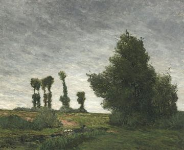 Landschap met populieren, Paul Gauguin