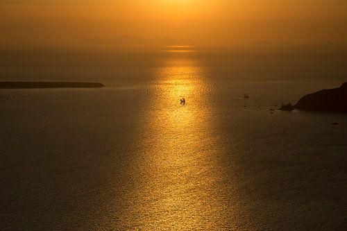 Segeln in goldenes Licht von Barbara Brolsma