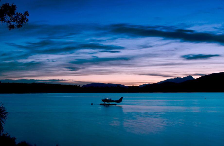 Zonsondergang bij Lake Te Anau - Nieuw Zeeland