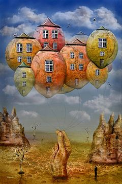 Im Himmel wohnen in Ballons