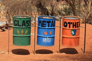 Metalen afvalbakken van Bobsphotography