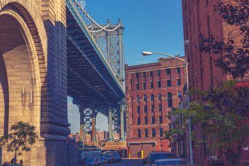 De bruggen in Dumbo New York 16 van FotoDennis.com