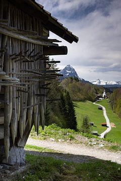 Uitzicht op Wamberg van Andreas Müller