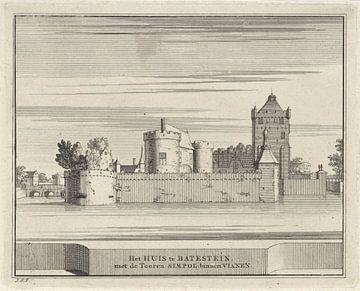 Gezicht op kasteel Batestein te Vianen, Jacobus Schijnvoet