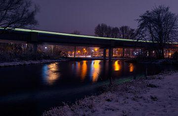 De metro in Spijkenisse van Ronne Vinkx