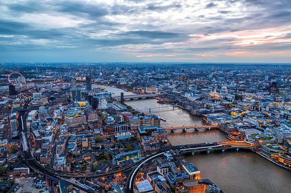 Londen vanuit The Shard van Roy Poots