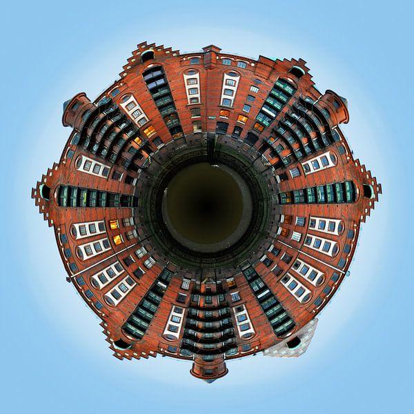 Little Planet Hamburg Speicherstadt van Panorama Streetline