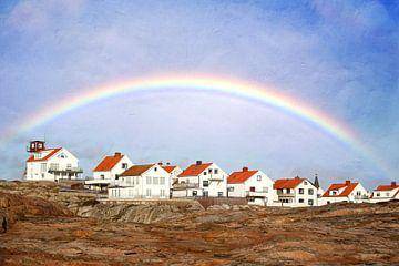Regenbogen über Smoegen von Heike Hultsch