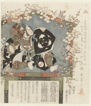 Motiv mit Porträt von Bandô Mitsugorô III, Hiroshige (I), Utagawa, 1821