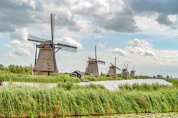Kinderdijk windmolens van Dave Verstappen