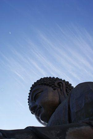 Boeddha and airplane