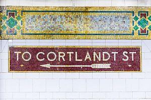 New York Subway naar Cortland Street