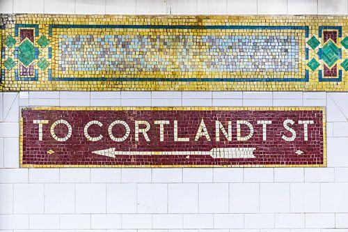 New York Subway to Cortland Straßen von Inge van den Brande