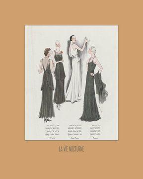 La vie nocturne - Art Deco Mode Druck von NOONY