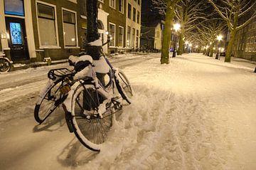 Winters plaatje Hooglandsekerkgracht van Remco Swiers