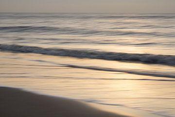 Coucher de soleil sur la côte sur Barbara Brolsma