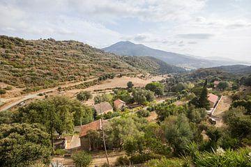 Uitzicht op Corsica, Frankrijk van