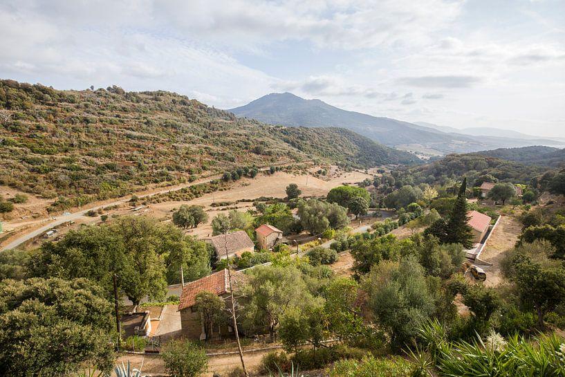 Uitzicht op Corsica, Frankrijk van Rosanne Langenberg