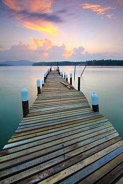 Steg bei Sonnenuntergang von Sabri Ismail
