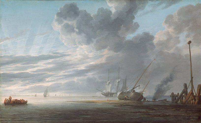 Estuary at Day's End, Simon de Vlieger von Meesterlijcke Meesters