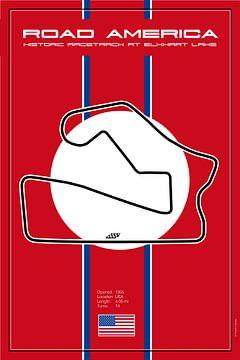 Weg-Amerika racebaan van Theodor Decker