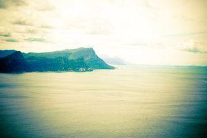 View over sea van