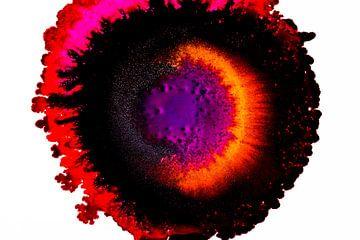 Alcohol inkt rood oranje zwart en paars van Rob Smit