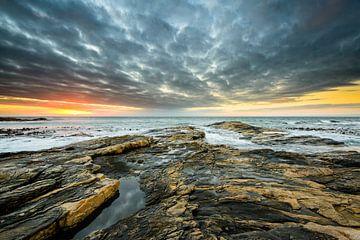 Zonsondergang aan de kust van Namibië van Denis Feiner