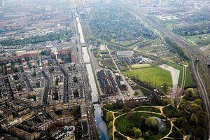 Westergasfabriek, Amsterdam vanuit de lucht van