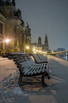 Winterse sfeer op de Terrassenufer van Sergej Nickel
