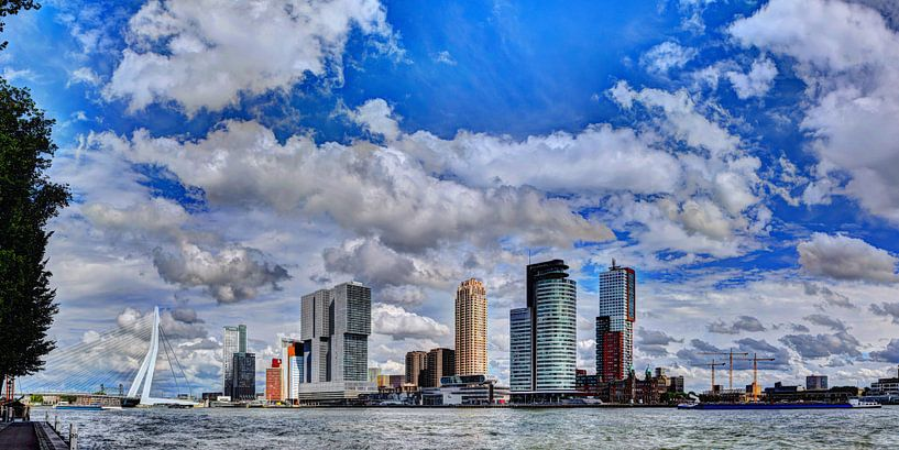 Skyline van Rotterdam 1 van Hendrik-Jan Kornelis