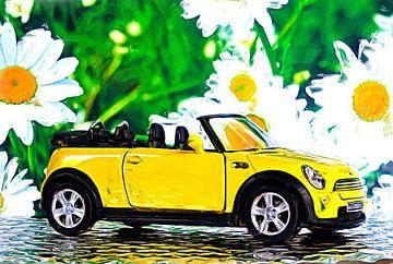 Cabriolet gelb van Jean-Louis Glineur alias DeVerviers