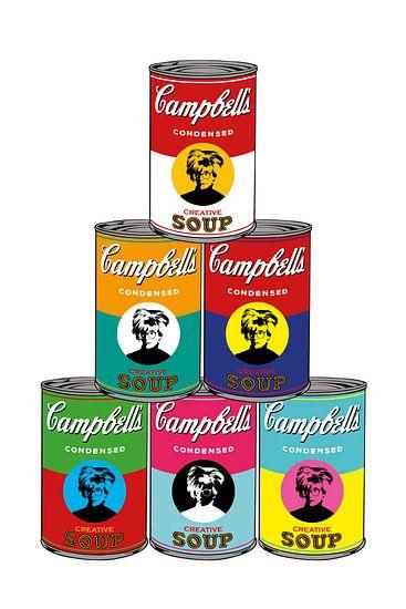 Tribute to Andy Warhol van Harry Hadders