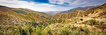 Panorama des Rif-Gebirge, Marokko von Rietje Bulthuis